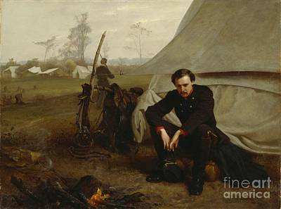 Camp Painting - At The Front by George Cochran Lambdin