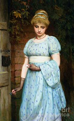 Charles Sillem Lidderdale Painting - At The Garden Gate by MotionAge Designs