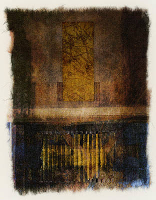 Rectangles Digital Art - At The Gate Photomontage by Carol Leigh