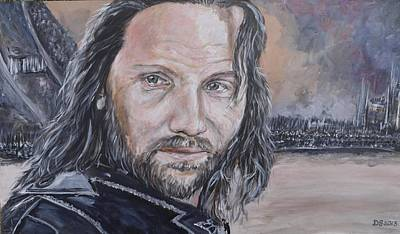 Aragorn Painting - At The Gates Of Mordor by Duncan Sawyer