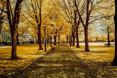 Thomas Kinkade - At the golden crossroads  by Jeff Folger