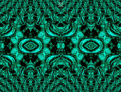 Green Surreal Geometry Digital Art - At The Green Gates by Abstract Angel Artist Stephen K