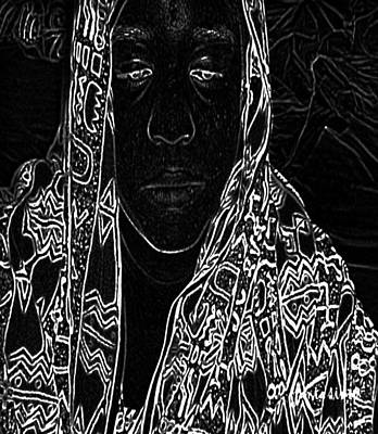 Unhelped Mixed Media - At The Heart Of Mali by Fania Simon