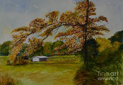 Painting - At The Horse Farm by Madie Horne