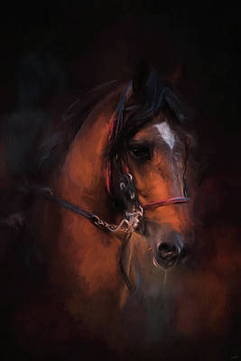 Painting - At The Horse Show 1 by Jai Johnson