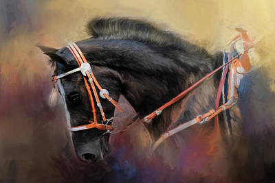 Painting - At The Horse Show 3 by Jai Johnson