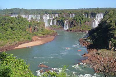 Photograph - At The Iguacu Falls by Nareeta Martin