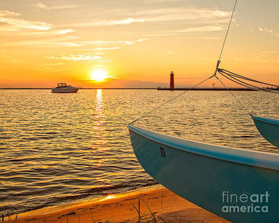 Muskegon Lighthouse Wall Art - Photograph - At The Lake by Emily Kay