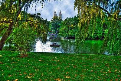 At The Lake In Central Park Art Print by Randy Aveille