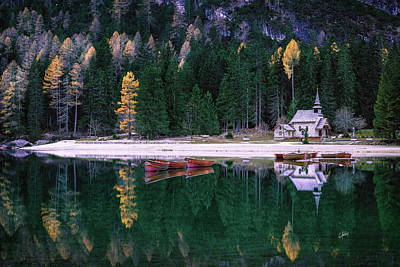 Photograph - At The Lake Of Braies by Elias Pentikis