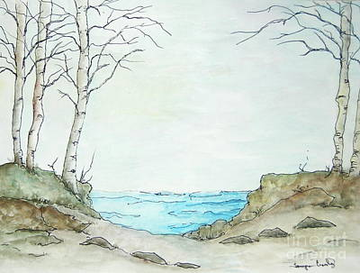 Painting - At The Lake by Tamyra Crossley