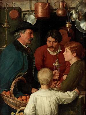 Painting - At The Metal Merchant by Henry Scott Tuke