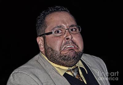 Photograph - At The Moment Things Are Not Going Well For The Evil Pro Wrestling Manager Donovan Troi  by Jim Fitzpatrick