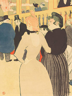 Impressionist Painting - At The Moulin Rouge, La Goulue And Her Sister by Henri de Toulouse-Lautrec