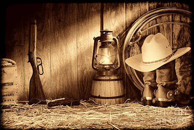 Photograph - At The Old Ranch by American West Legend By Olivier Le Queinec