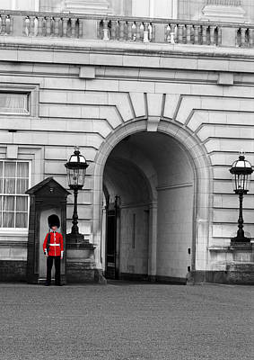 Buckingham Palace Digital Art - At The Palace by Mike  Hall