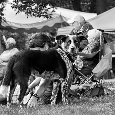 Photograph - At The Park, Bath, Maine  -36412-bw by John Bald