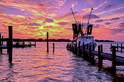 Photograph - At The Pier by Jim Dollar