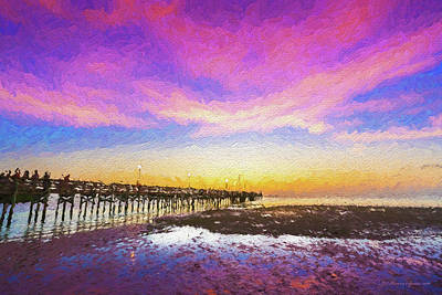 Beach Landscape Photograph - At The Pier by Marvin Spates
