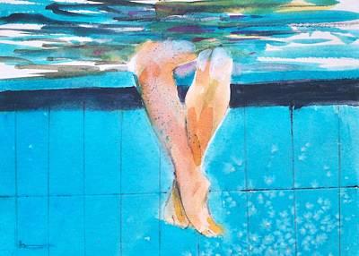 At The Pool Art Print