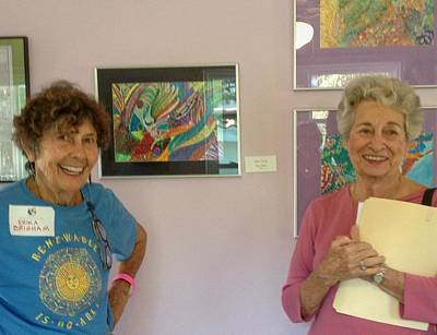 Mixed Media - Attendees At The Pop-up Show by Strangefire Art       Scylla Liscombe