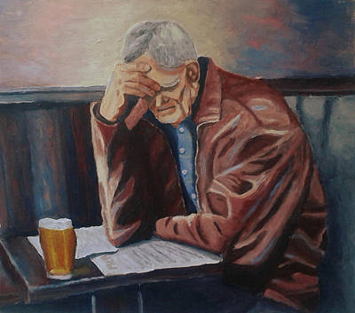 Painting - At The Pub by Mats Eriksson