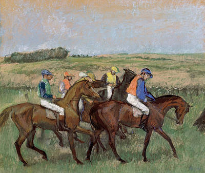 At The Races  1885 Art Print