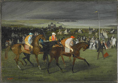 Retro Portret Painting - At The Races The Start 1862 by Edgar Degas