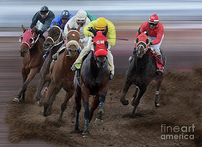 Photograph - At The Racetrack 3 by Bob Christopher