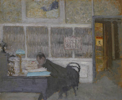 Desk Painting - At The Revue Blanche by Edouard Vuillard