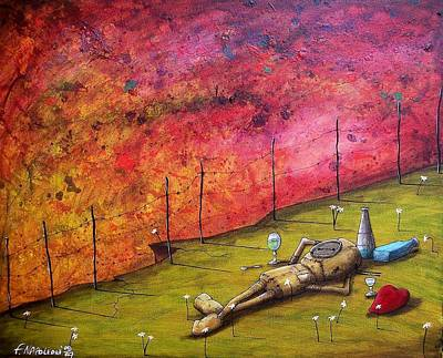 Print - At The Same Moment They Both Realized They Had No One To Drive Them Home by Fabio Napoleoni