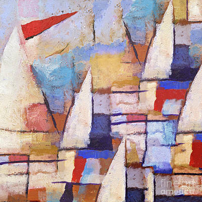 Abstract Seascape Painting - At The Sea by Lutz Baar