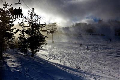 At The Ski Slope Art Print