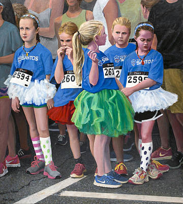 Painting - At The Start Of Their Run by Mark Lunde