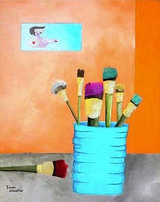 Painting - At The Studio by Isaac Alcantar