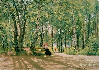 At The Summer Cottage Art Print by Ivan Ivanovich Shishkin