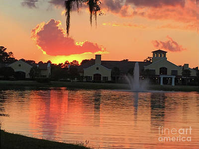 Ic Art Photograph - At The Sunset Grill by Rick Locke
