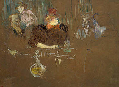 Interior Painting - At The Table Of Monsieur And Madame Natanson by Henri de Toulouse-Lautrec