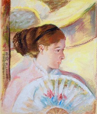 Pastel - At The Theater After M Cassatt by Edna Garrett