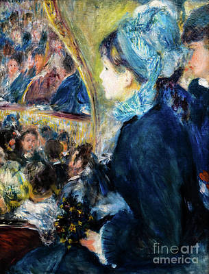 Painting - At The Theatre by Auguste Renoir