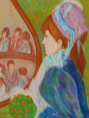 Drawing - At The Theatre by Beth Akerman
