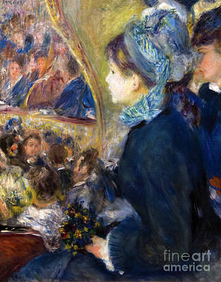 At The Theatre, By Pierre-auguste Renoir, 1876-7, National Galle Art Print by Peter Barritt