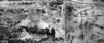 Painting - At The Top Of The Hill - Black And White Abstract Painting by Modern Art Prints