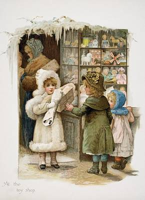 At The Toy Shop Art Print by Vintage Design Pics