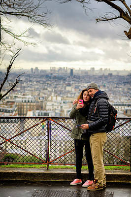 Sacre Coeur Photograph - At The Viewpoint Of The Sacre-coeur by Pablo Lopez
