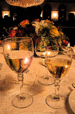 Table Wine Photograph - At The Wedding by Janice Paige Chow