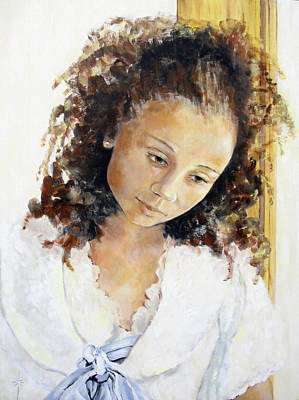 Painting - At The Window by Jodie Marie Anne Richardson Traugott          aka jm-ART