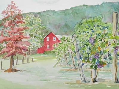 Painting - At The Winery by Christine Lathrop