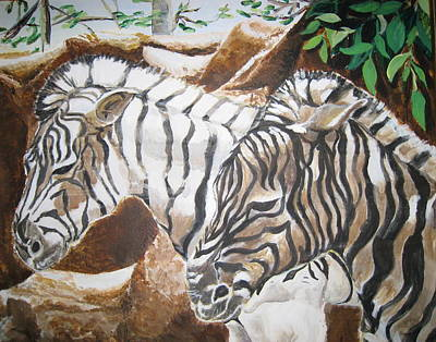 Painting - At The Zoo by Julie Todd-Cundiff