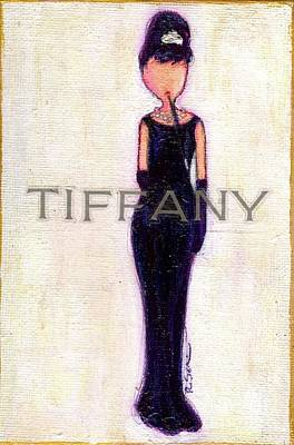 Little Girls98 Painting - At Tiffany's by Ricky Sencion